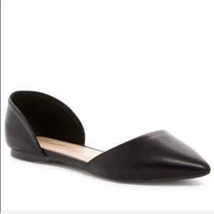 Breckelles Black d'Orsay flats pointy-toe size 10